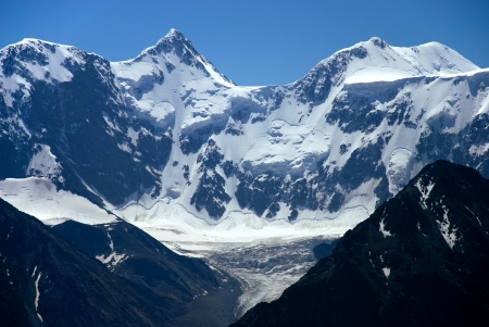 alpinism: Mountain Belukha 4506m, Altai, Russia LANG_EVOIMAGES