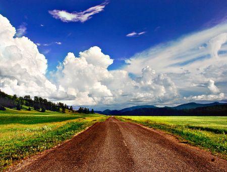 earth road: Strada  Archivio Fotografico