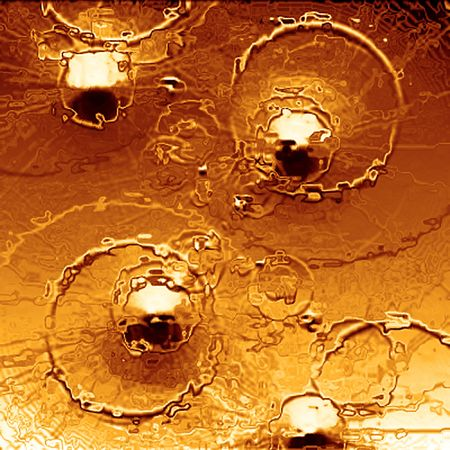 Bullets in gold - abstraction photo