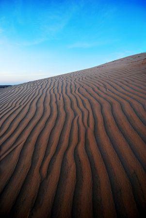 Sand dune, desert photo