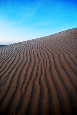 sandhills: Sand dune, desert Stock Photo