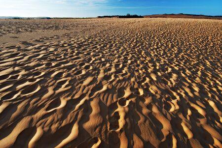 Sand dunes, desert photo