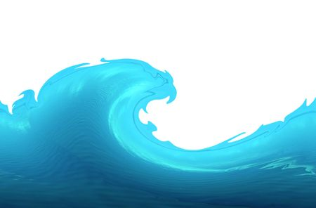 Wave isolated on white, illustration illustration