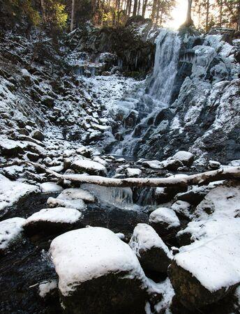 taiga: Waterfall, wild taiga, Primorye, Russia