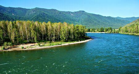 Mountain river Katun, Altai, Russia Stock Photo - 3904898