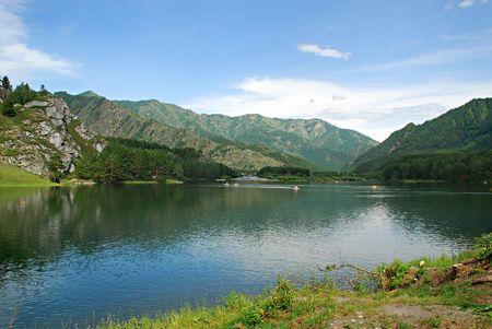 chemal: Landscape, mountain river Katun, Chemal, Altai, Russia