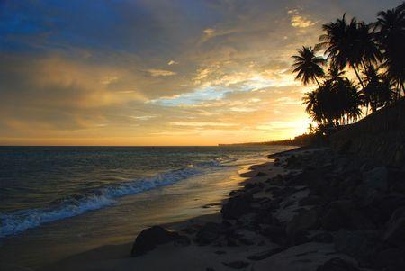 bali beach: Tropical sunset, Bali beach, Indonesia