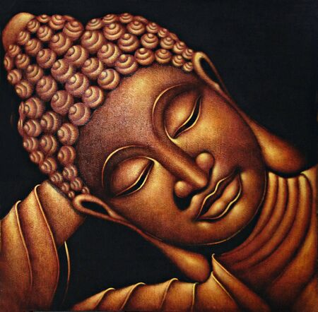 chinese buddha: Sleeping Buddha, illustration