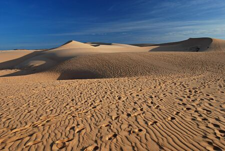 sandhills: Sand desert, dune Stock Photo