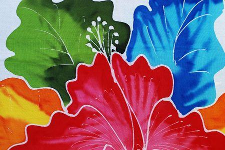 batik, multicolored fabric, design element