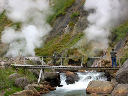 kamchatka: Valle dei Geyser, fiume caldo, Kamchatka, Russia