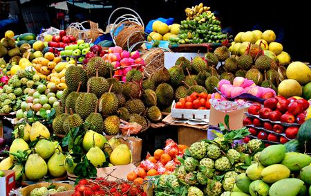 fruit market: Asian market, exotic fruits