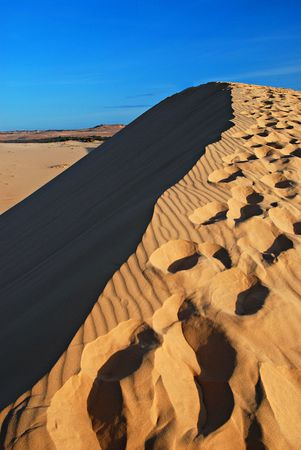 sandhills: Sand desert, dune, sandhill Stock Photo