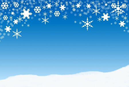 Snowflakes, winter background for text photo