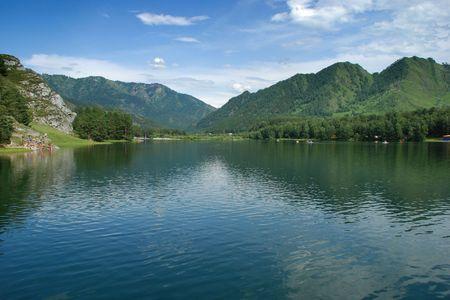 chemal: Mountain lake, landscape, Chemal, Altai, Russia
