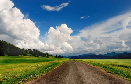 cumulus: Country road