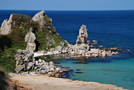 Tropical sea, Pacific ocean, Primorye, Russia photo