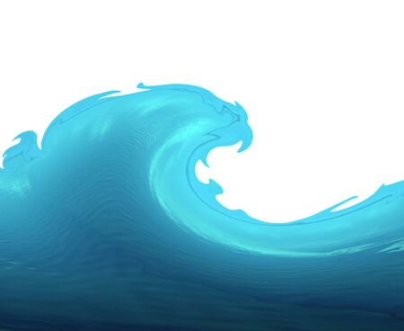 Wave isolated on white - illustration illustration