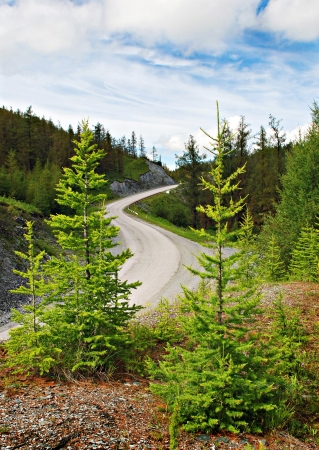 road autumnal: Passage, mountain road, Altai, Russia