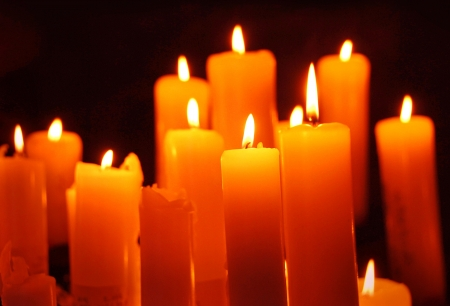 kerzen: Steigen Kerzen, Karte f�r Weihnachten Lizenzfreie Bilder
