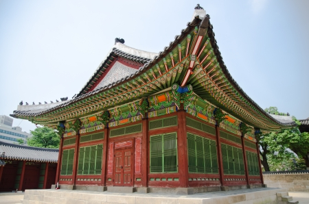 gyeongbokgung: Gyeongbokgung palace in Seoul, Korea  Stock Photo