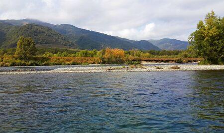 kamchatka: Forest river, beautiful landscape, Kamchatka, Russia Stock Photo