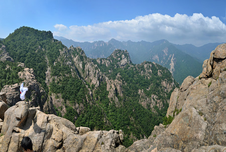 Mountain landscape, panorama of Seoraksan National Park, South Korea Stock Photo