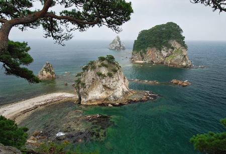 far eastern: Beautiful landscape  seascape, Sea of Japan, Primorye, Russia, Far Eastern Maritime preserve