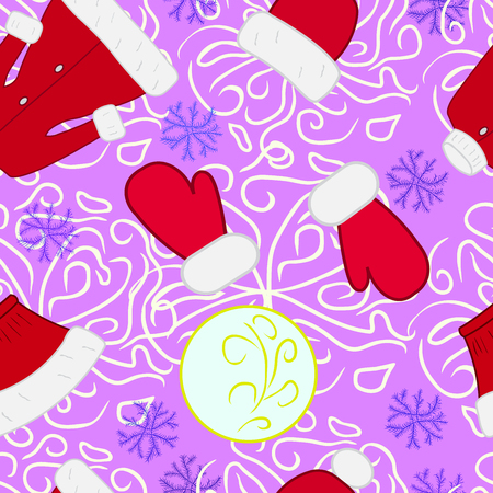 Christmas clothes vector seamless  pattern