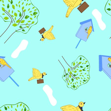 vector illustration business birdies