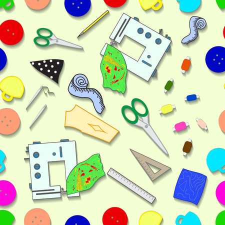 Tools for sewing vector seamless pattern