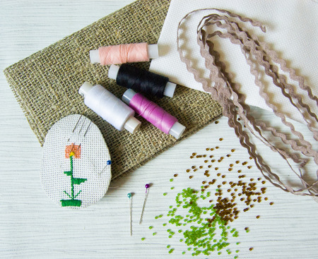 centimetres: blanks for needlework, sewing tools, sewing kit