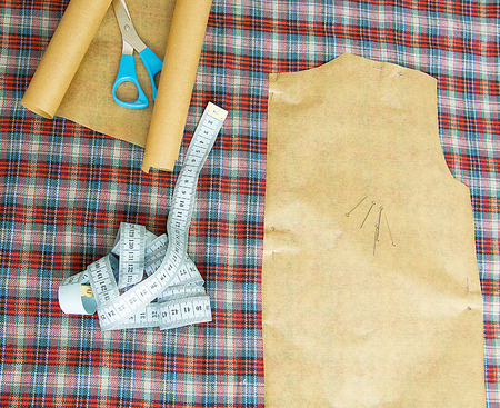 tailored: sewing, sewing clothes, sewing clothes tools, sewing workshop Stock Photo