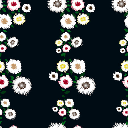 decoupage: Seamless pattern with colorful flowers on a colored background. Floral background for textile, wallpaper, covers, surface, print, gift wrap, scrapbooking, decoupage.