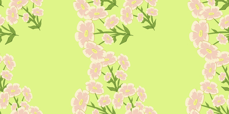Floral cute background. Vector seamless flower pattern