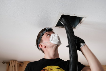 Air Duct Cleaning, vents, registers Banque d'images