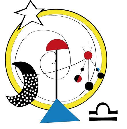 ironic: balance, zodiac sign isolated on white background