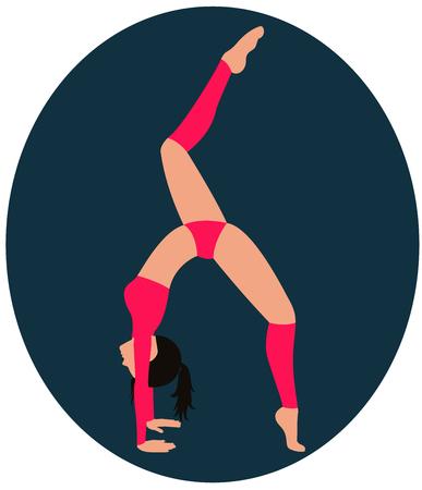 Girl doing exercise lap lifting one leg