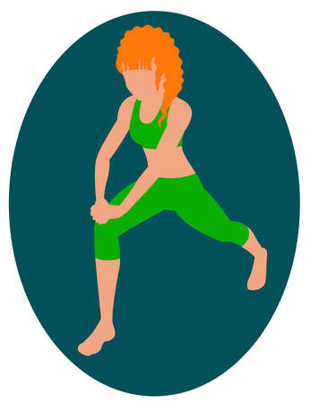 Girl doing an exercise lunge