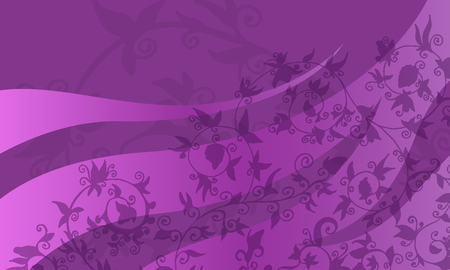 Abstract purple background with floral pattern. Vector backdrop illustration