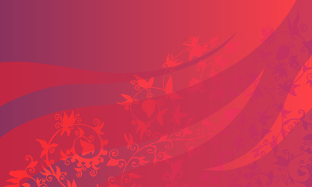 Abstract background with floral pattern. Vector backdrop illustration with purple and red gradient  イラスト・ベクター素材