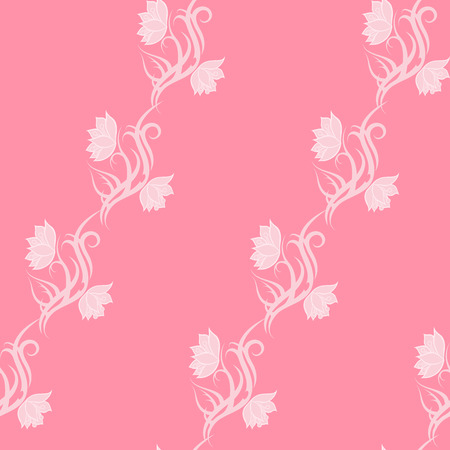 Pink tribal Flower seamless pattern for fabric print, cloth, textile or wrapping paper. Backdrop vector illustration