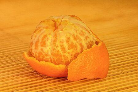 Food photos of delicious ripe juicy tangerine Stock Photo