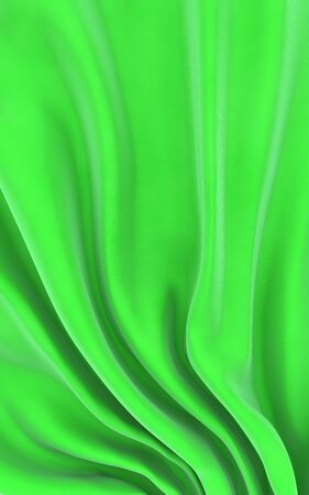 Abstract green cloth on a white background, 3d image isolated photo