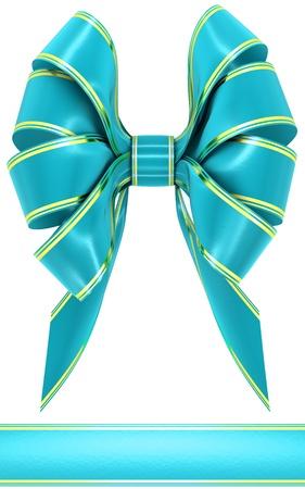 velvet ribbon: cyan bow