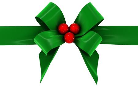 velvet ribbon: green bow