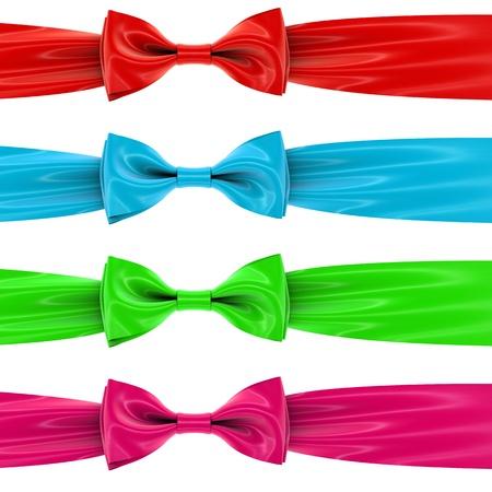 velvet ribbon: a set of colorful bows