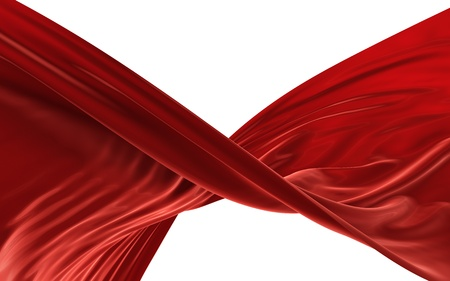 Abstract red cloth on a white background, image isolated photo