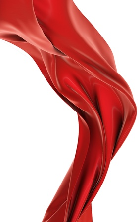 red silk: Abstract cloth Stock Photo