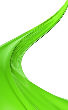 Abstract green cloth on a white background, image isolated